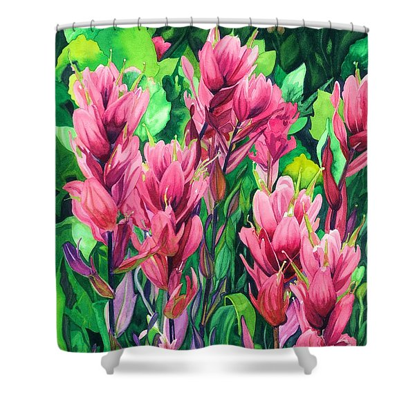 Mountain Meadows' Paintbrush Shower Curtain