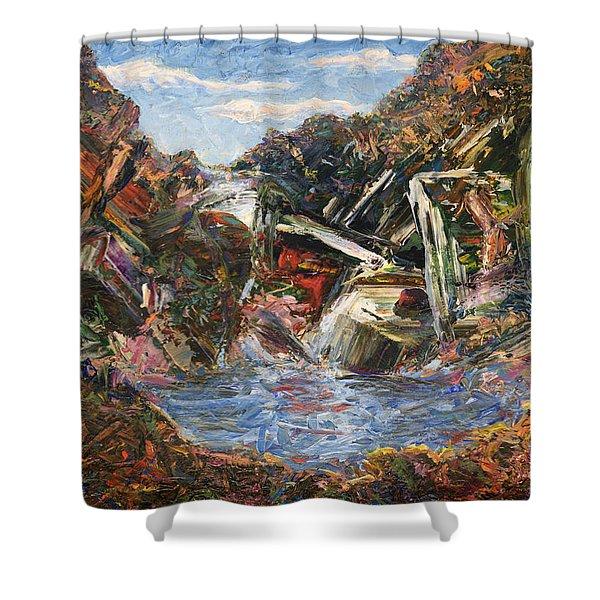 Mountain Pool Shower Curtain