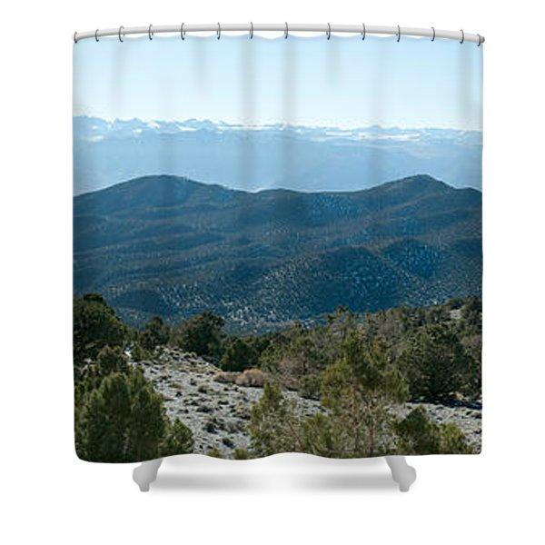Mountain Range, White Mountains Shower Curtain