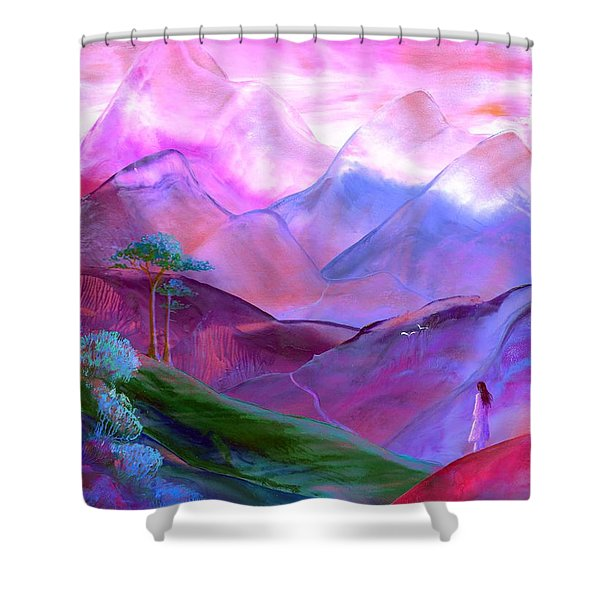 Mountain Reverence Shower Curtain