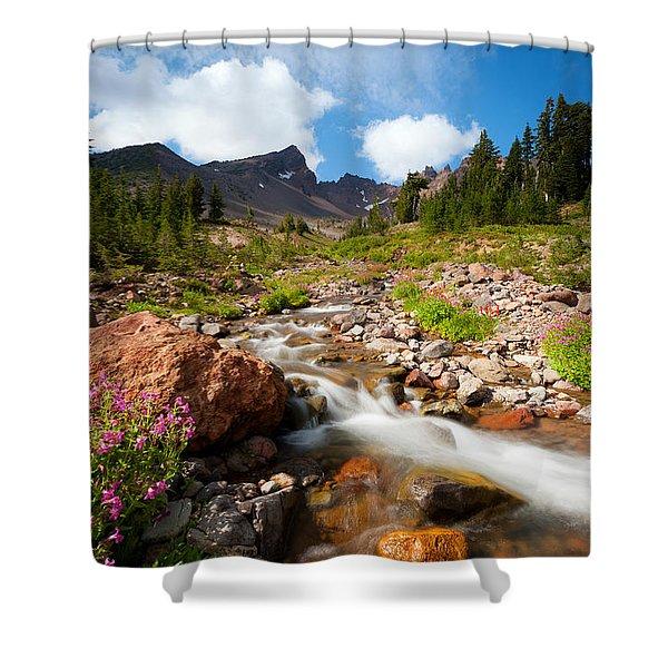 Mountain Runoff Shower Curtain
