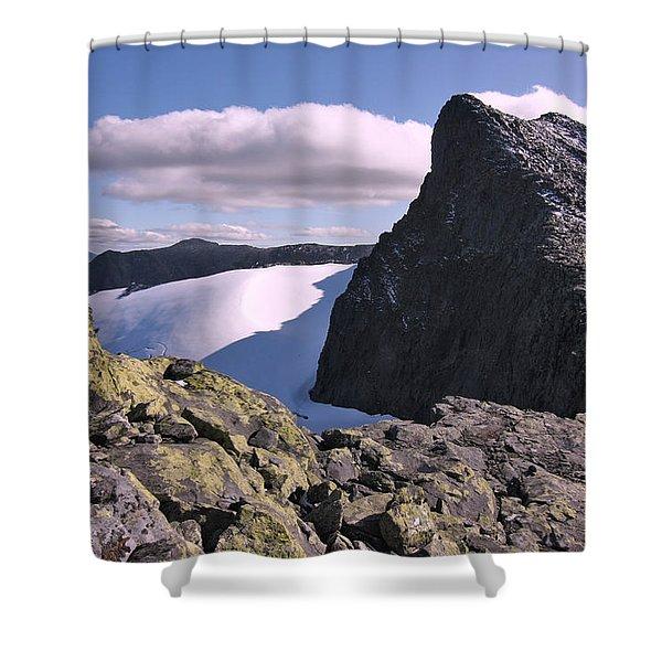 Mountain Summit Ridge Shower Curtain
