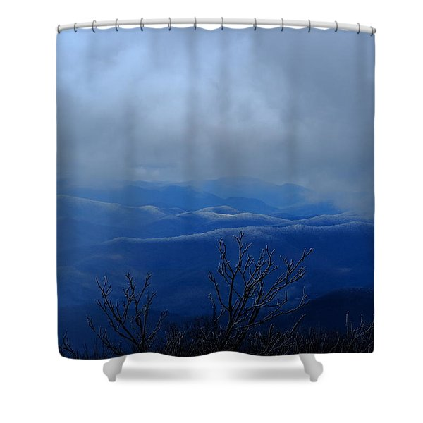 Mountains And Ice Shower Curtain