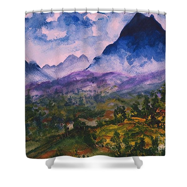 Mountains Of Pyrenees  Shower Curtain