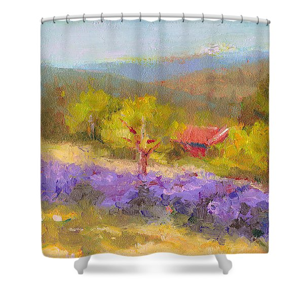 Mountainside Lavender   Shower Curtain