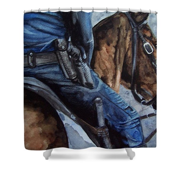 Mounted Patrol Shower Curtain