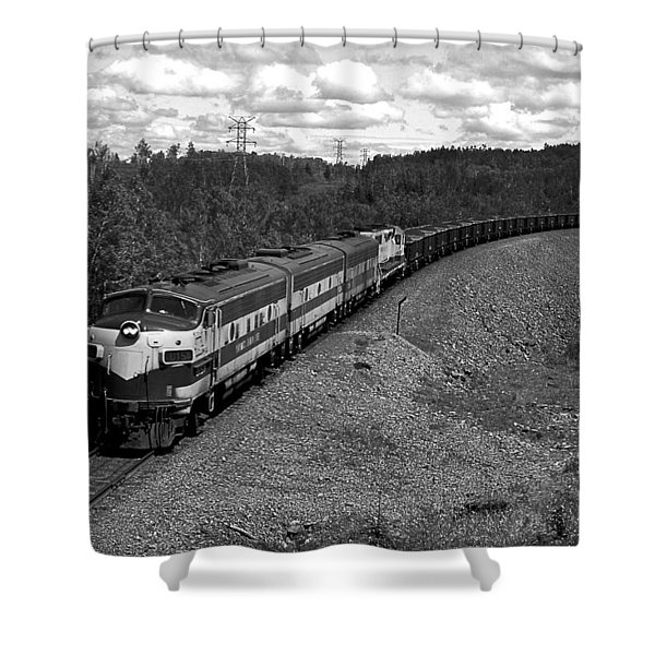 Moving Across America Shower Curtain