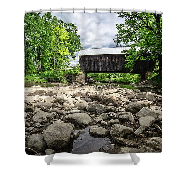 Moxley Covered Bridge Chelsea Vermont Shower Curtain