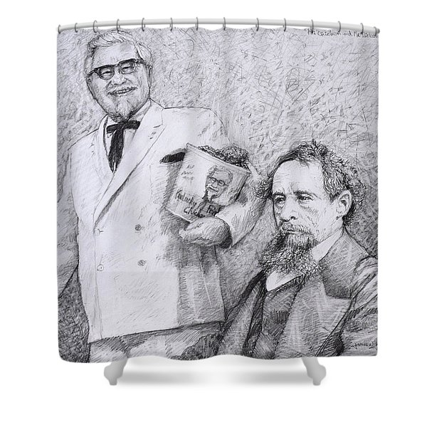 Mr Chicken And Mr Dickens Shower Curtain