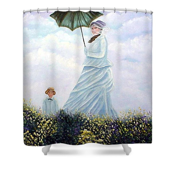 Mrs. Monet And Son Shower Curtain
