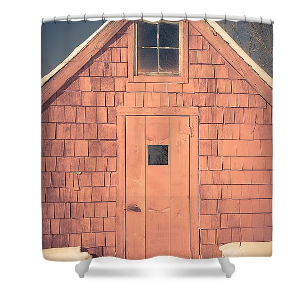 Mt. Cube Sugar Shack Orford New Hampshire Shower Curtain
