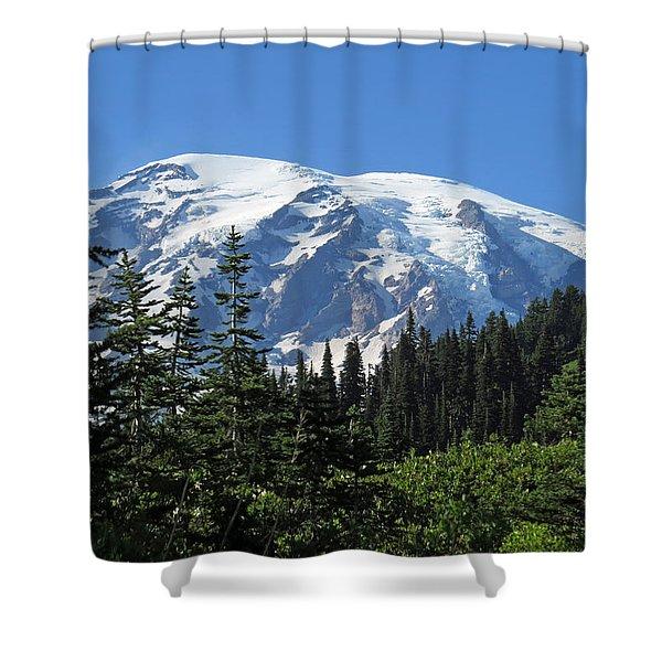 Washington's Mt. Rainier Shower Curtain