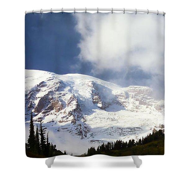 Mt Rainier II Shower Curtain