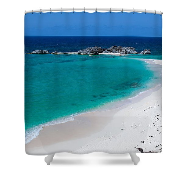 Mudjin Harbour Shower Curtain