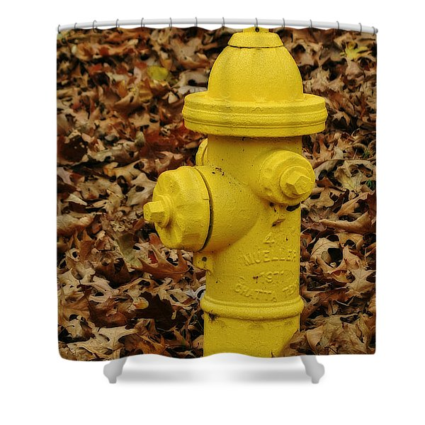 Mueller Fire Hydrant Shower Curtain