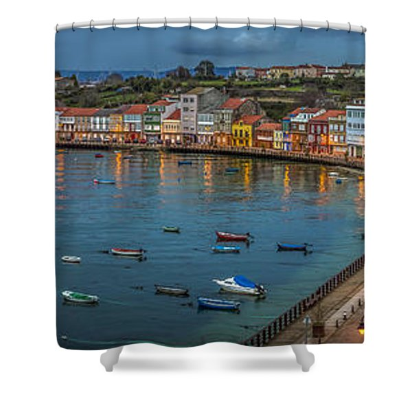 Mugardos Panorama Galicia Spain Shower Curtain