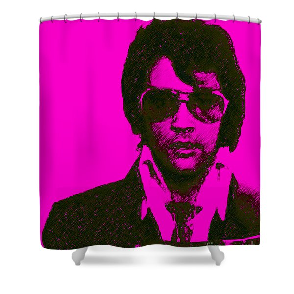 Mugshot Elvis Presley M80 Shower Curtain