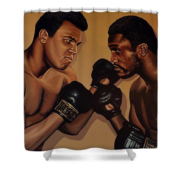Muhammad Ali And Joe Frazier Shower Curtain