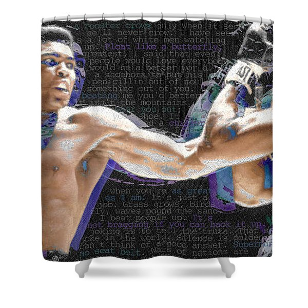 Muhammad Ali Shower Curtain