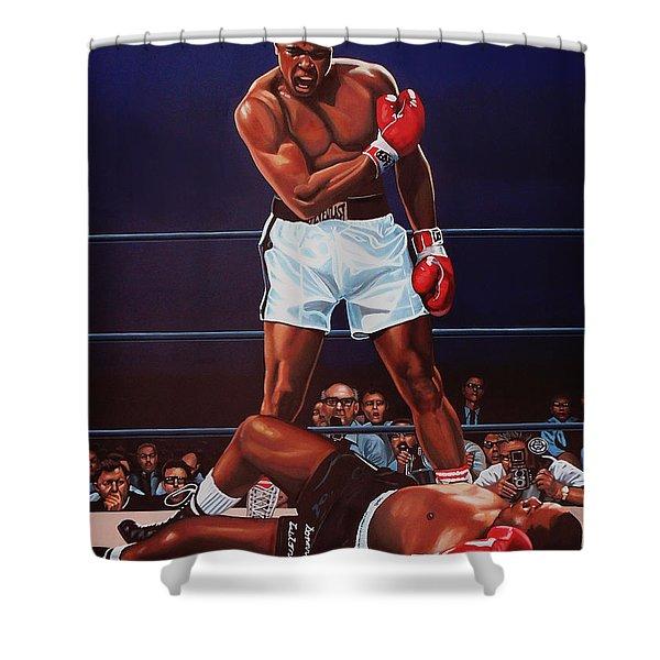 Muhammad Ali Versus Sonny Liston Shower Curtain