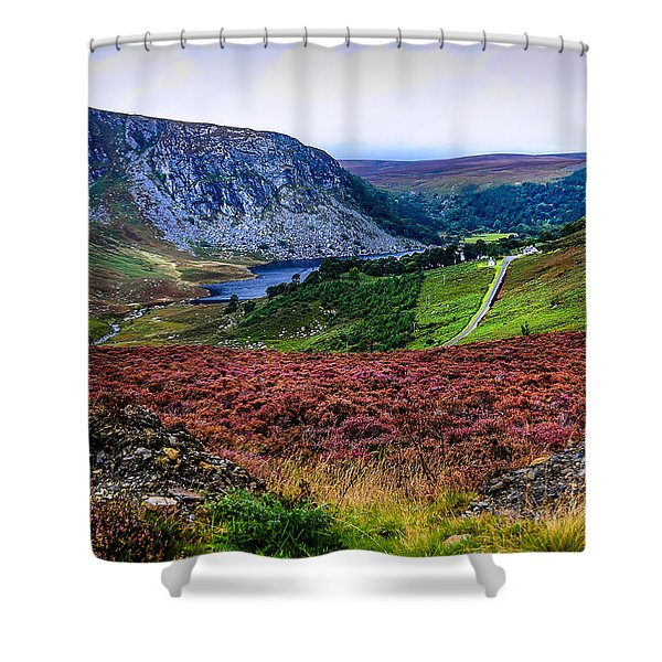 Multicolored Carpet Of Wicklow Hills. Ireland Shower Curtain
