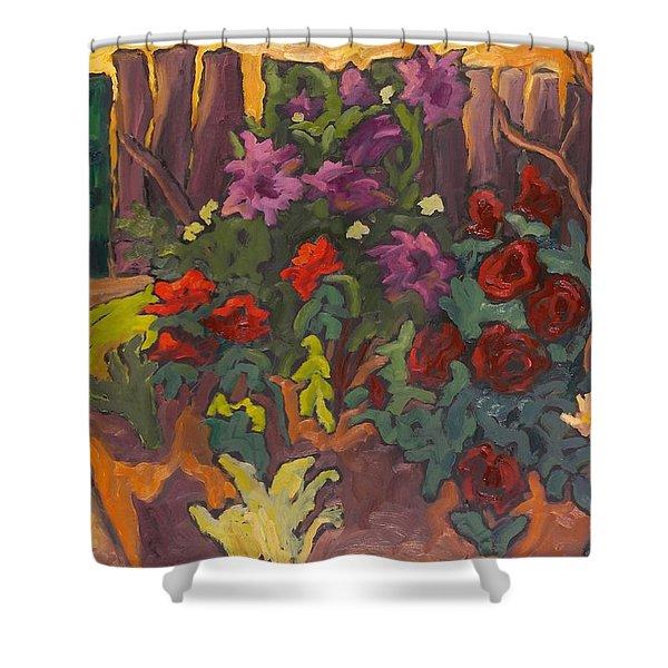 Mums Garden, 2003 Oil On Board Shower Curtain