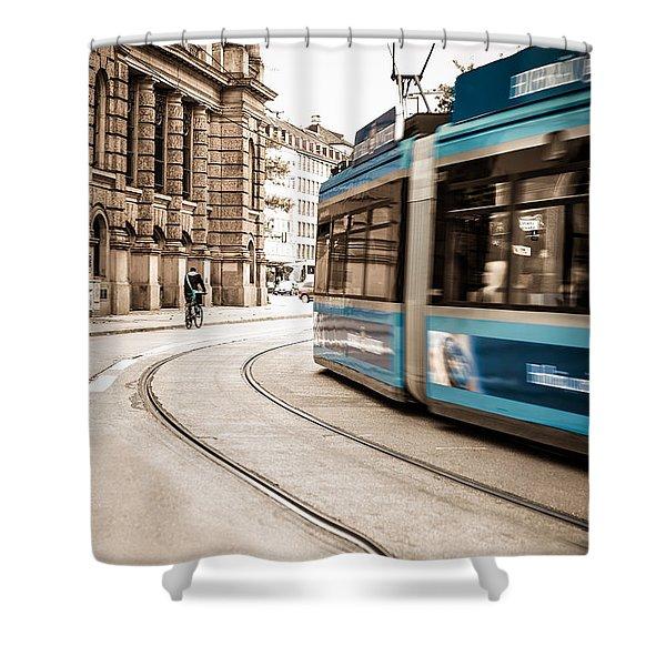Munich City Traffic Shower Curtain