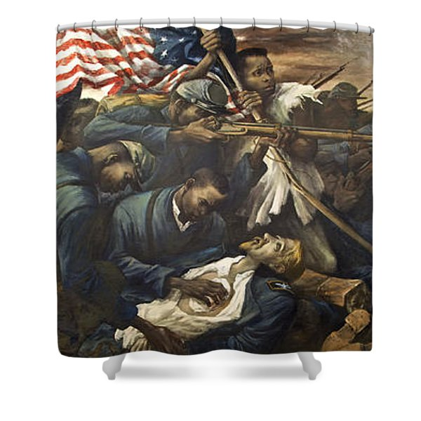 Mural Of The 54th Massachusetts And Colonel Shaw  Shower Curtain