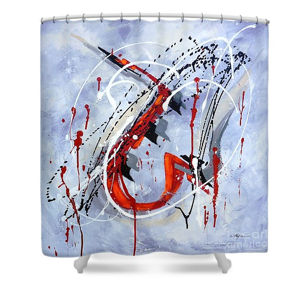 Musical Abstract 005 Shower Curtain
