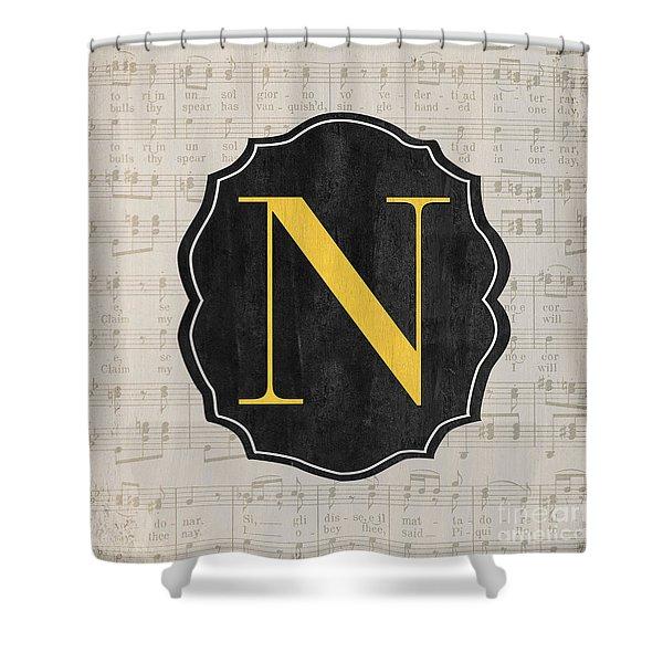 Musical Monogram Shower Curtain