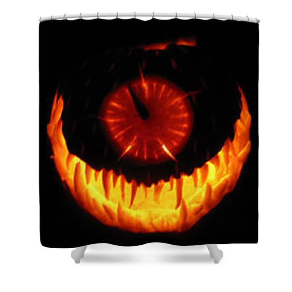 Mutant Strawberry Clock Shower Curtain