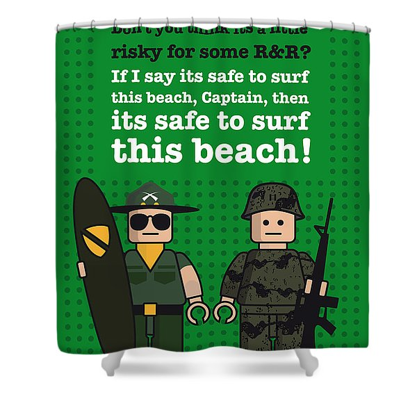 My Apocalypse Now Lego Dialogue Poster Shower Curtain