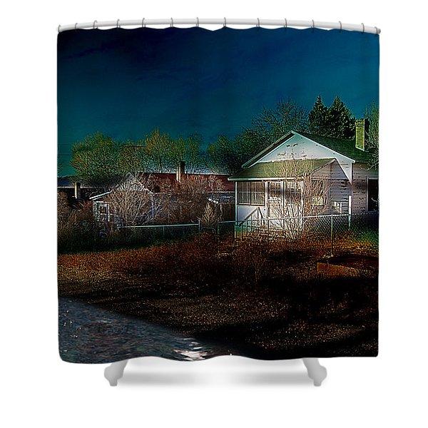 Shower Curtain featuring the photograph My Dream House by Gunter Nezhoda