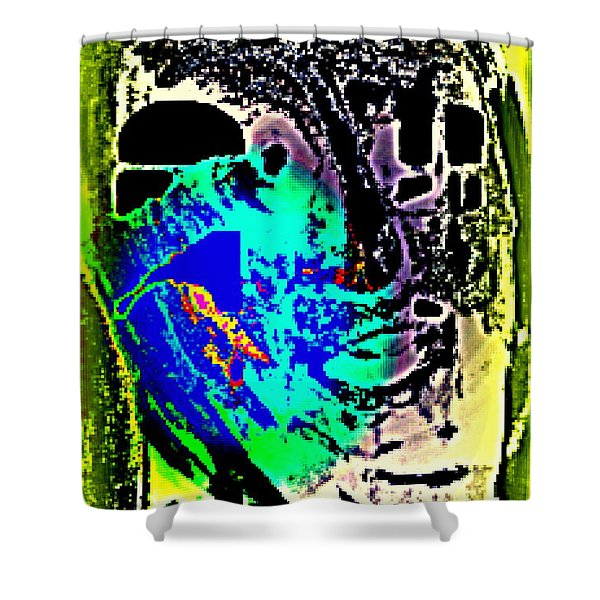 my ghost is my guest and I need nobody else  Shower Curtain