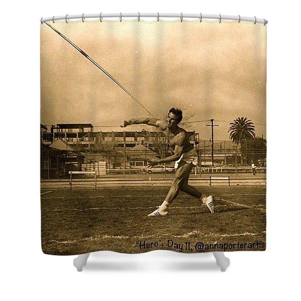 My #hero, George Porter, 1968 Shower Curtain