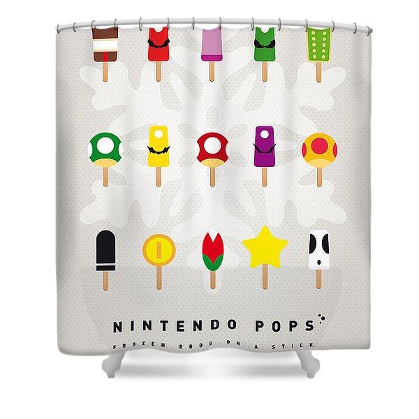 My Mario Ice Pop - Univers Shower Curtain