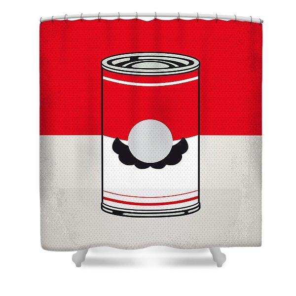 My Mario Warhols Minimal Can Poster-mario Shower Curtain