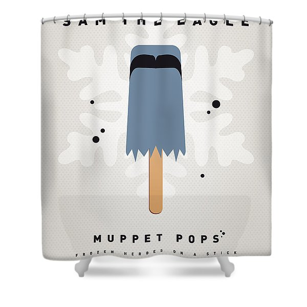 My Muppet Ice Pop - Sam The Eagle Shower Curtain