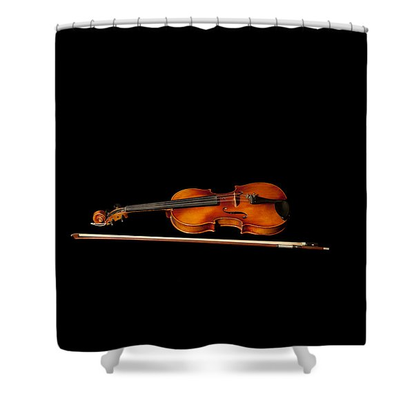 My Old Fiddle And Bow Shower Curtain