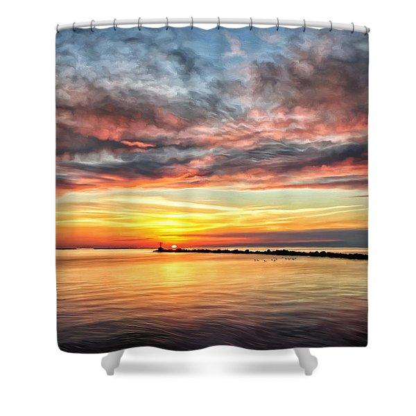 My Return To Cape Charles Virginia Shower Curtain