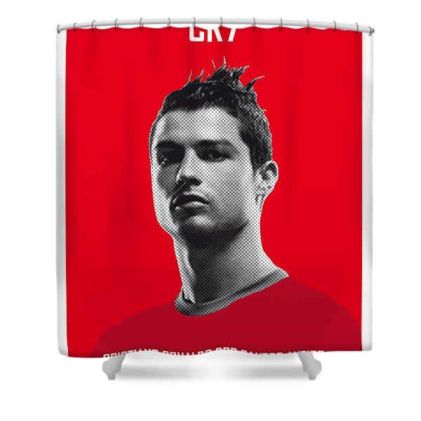 My Ronaldo Soccer Legend Poster Shower Curtain