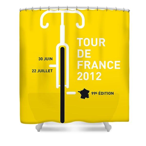My Tour De France 2012 Minimal Poster Shower Curtain