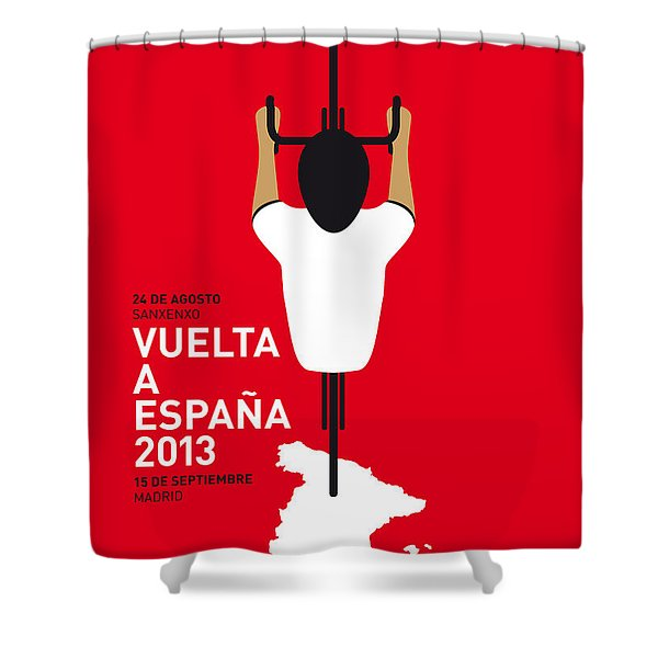 My Vuelta A Espana Minimal Poster - 2013 Shower Curtain