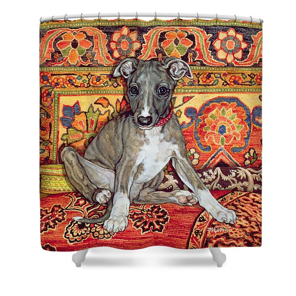My Whippet Baby Shower Curtain