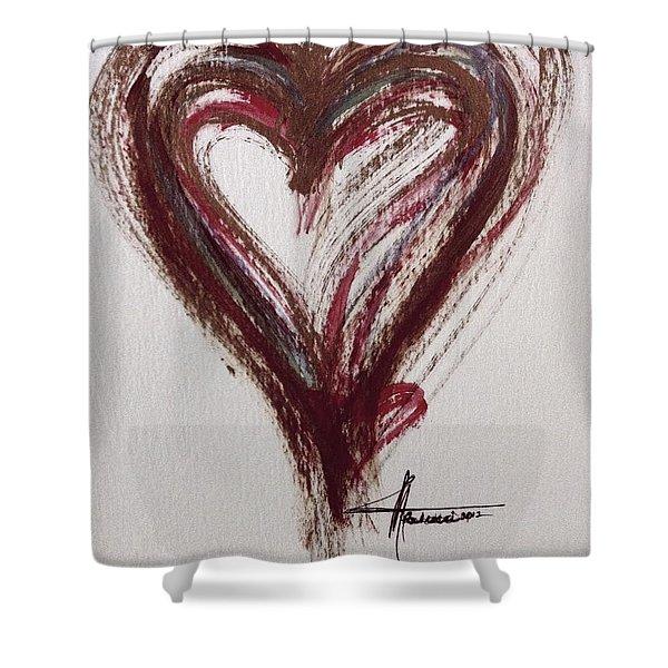Myeloma Awareness Heart Shower Curtain