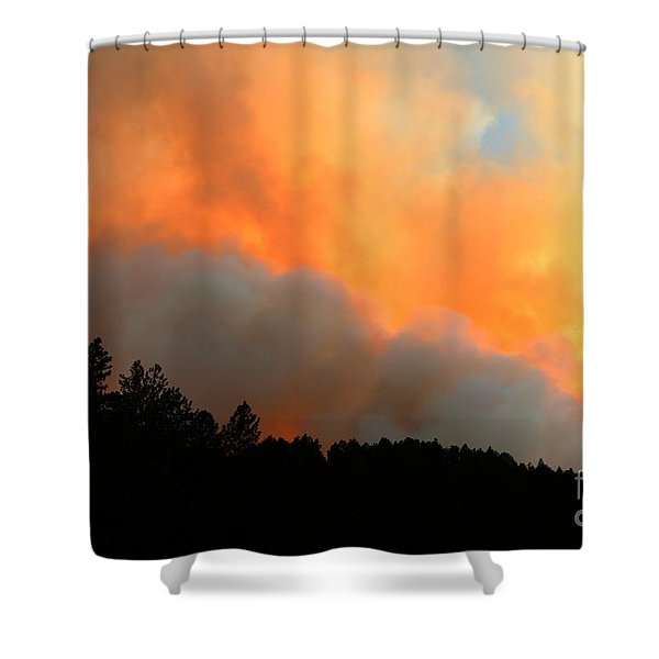 Myrtle Fire Near Rifle Pit Road Shower Curtain