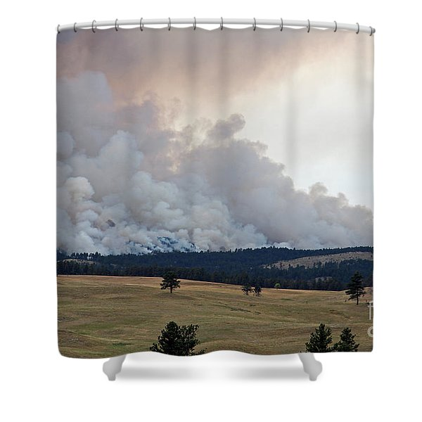 Myrtle Fire West Of Wind Cave National Park Shower Curtain