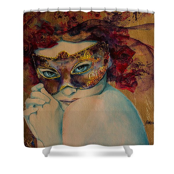 Mystery Roses Shower Curtain