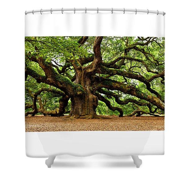 Mystical Angel Oak Tree Shower Curtain