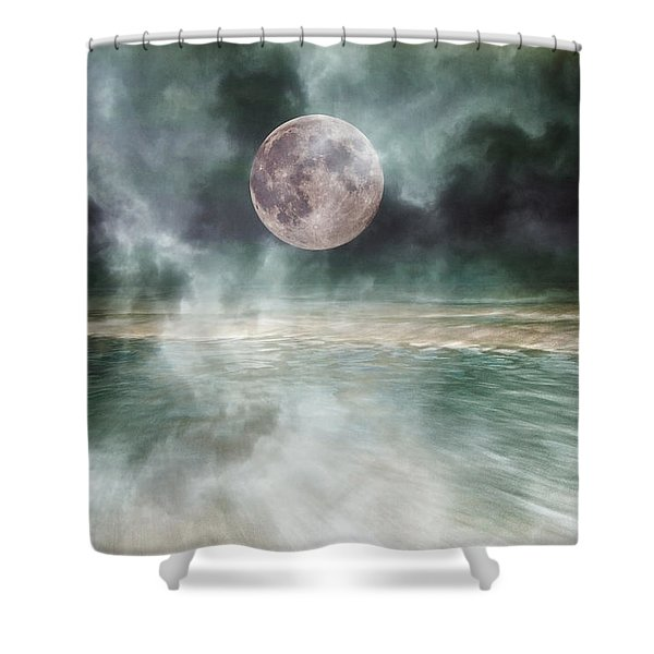 Mystical Beach Moon Shower Curtain